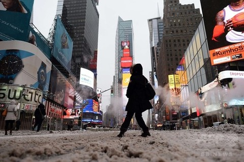 ニューヨーク大雪2015