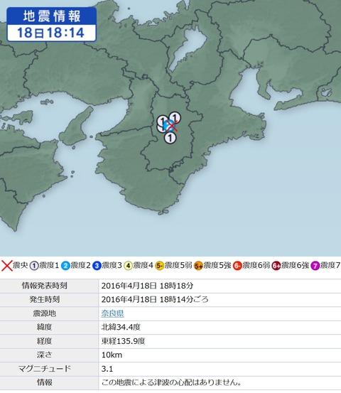奈良中央構造線地震