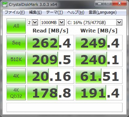 SSDベンチマーク512GB