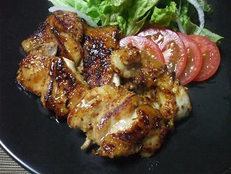 鶏のマスタード焼き