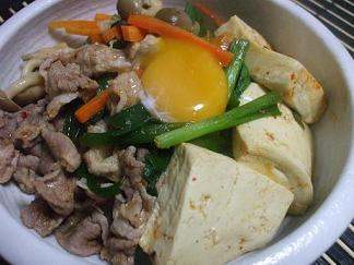 キムチ肉豆腐ビビンバ