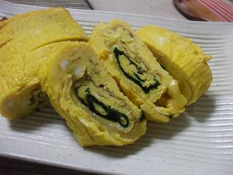 韓国海苔とチーズの卵焼き