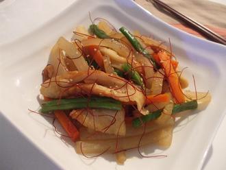 大根のピリ辛ポン酢炒め