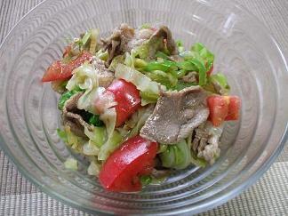 ラムとキャベツのサラダ