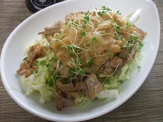 豚肉とごぼうのおろしサラダ