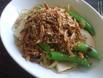 桜海老と春野菜のパスタ