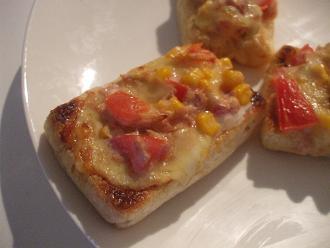 ツナコーンお揚げピザ