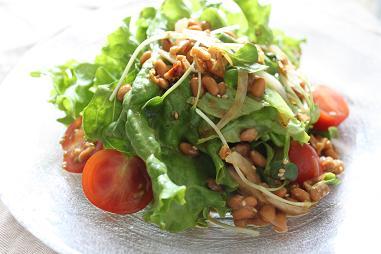 食べるラー油×納豆チョレギサラダ