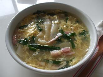 スープ ニラ 玉