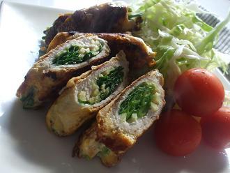 豚肉の生姜巻きピカタ