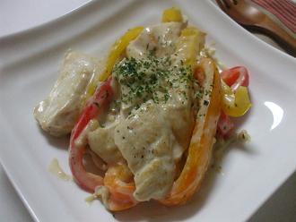 鶏胸肉のクリーム煮