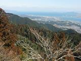琵琶湖を見下ろす