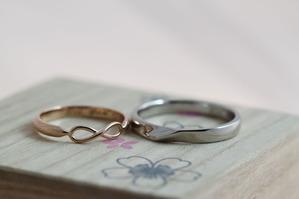 個性的なデザインの手作り結婚指輪をご紹介します 安部・桑本様1