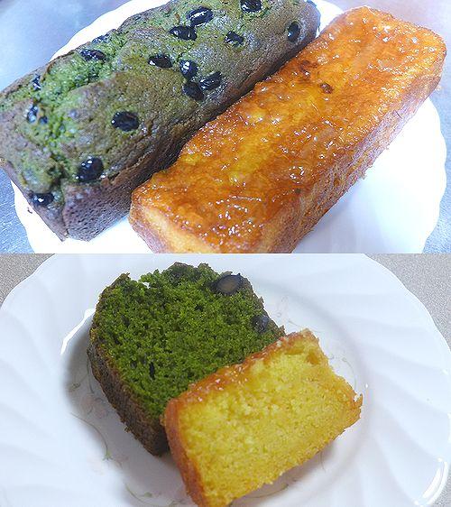 51マーマレードのパウンドケーキと黒豆と抹茶のパウンドケーキ