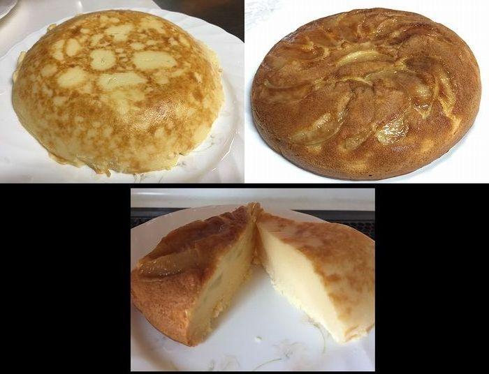 116桃ケーキとチーズケーキ