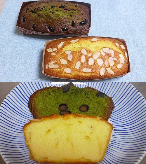 37抹茶と黒豆のパウンドケーキとマーマレードのパウンドケーキ