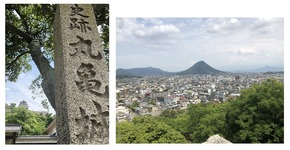 丸亀城と山