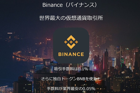 仮想通貨取引所Binance(バイナンス)