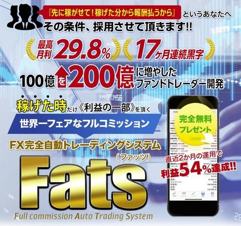 FX完全自動トレーディグシステム Fats(ファッツ)
