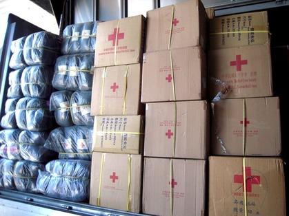 台湾からの援助物資