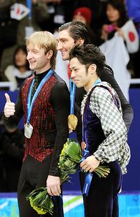 高橋大輔フィギュアスケート銅メダル