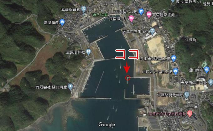 須口港(マークあり)