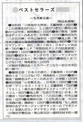 ベストセラー岩手日報