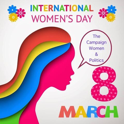 国際女性デーチラシ表