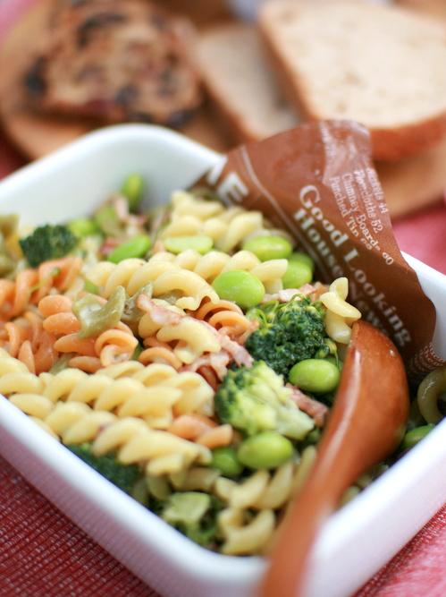 枝豆とブロッコリーのパスタサラダ