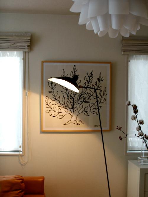 セルジュ・ムーユ Serge Mouille  ランプ フロアスタンド 点灯アップ