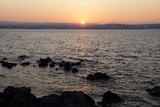 桜島なぎさ公園からの日没 17