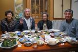 歓迎してくれた鹿屋市内の皆さん鮫島さん宅で宴会です 7