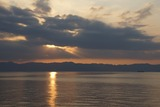 錦江湾の日没 12