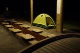 桜島なぎさ公園足湯にてビバーク 19