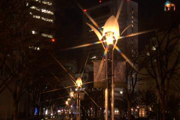 ガス燈通りの夜景(消灯)