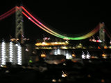 舞子から夜の明石海峡大橋