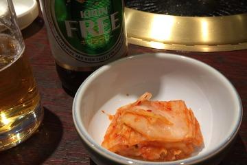 羅生門のキムチとノンアルコールビール