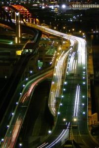 貿易センター・スカイブッフェから神戸大橋方向を望む
