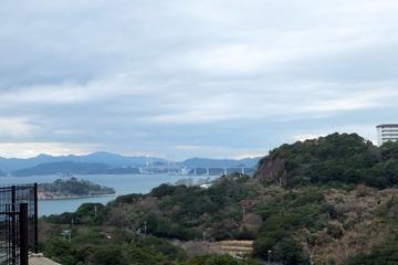 休暇村南淡路からの眺望(鳴門海峡側)