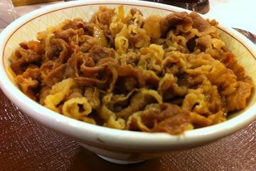すき家の牛丼「中盛り」