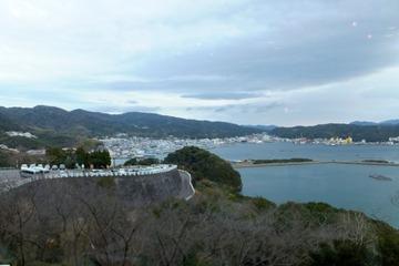 休暇村南淡路からの眺望(福良港側)