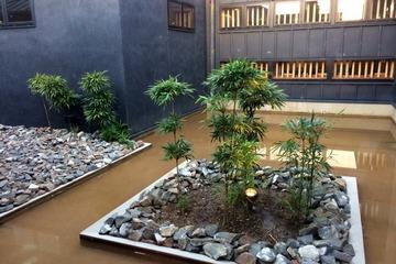 すずらんの湯の中庭