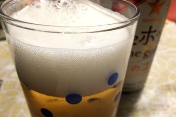 麦とホップThe Gold絹のコク(コップの泡)