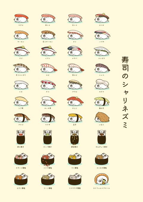 寿司のシャリネズミ