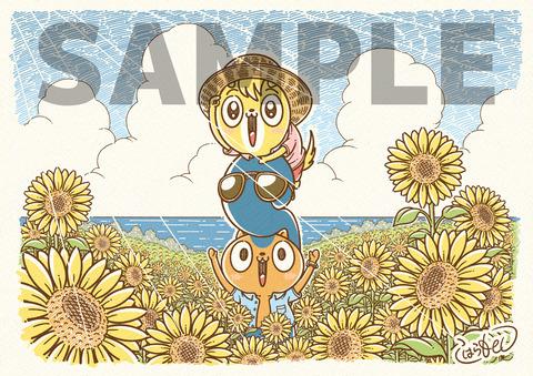 ポストカード(A4サイズ)8月サンプル-