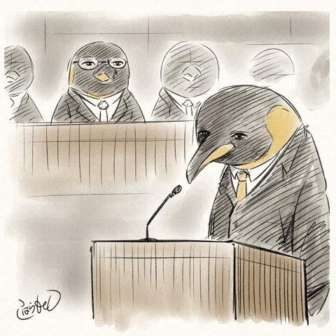 法廷ペンギン