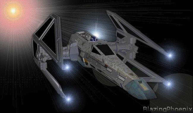 右のイメージは、帝国の崩壊後に物資不足から改造されて出来た戦闘機で、Xウィング・ノベルズに登場します。また、これと逆にタイ・ファイターのボディに Xウィングを
