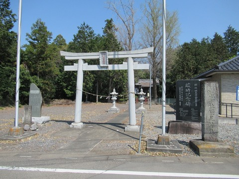 横見神社全景
