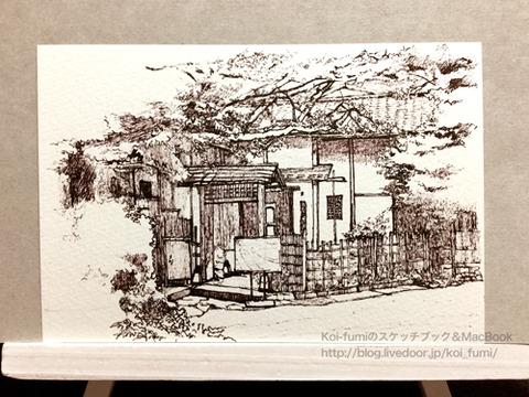 ペン画-Koi-fumi-160719