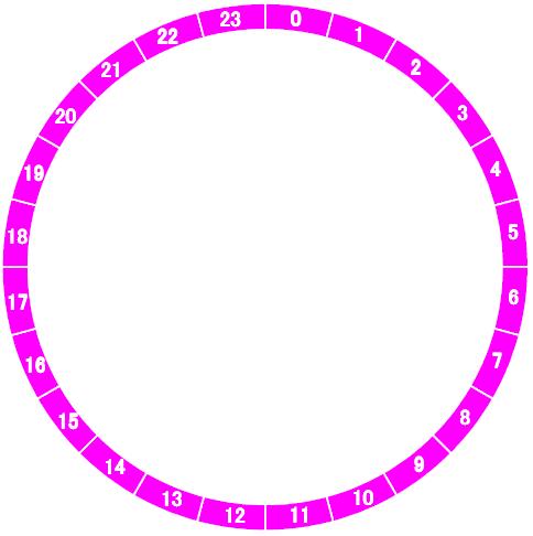一日スケジュール表を円グラフ ... : スケジュール 円グラフ : すべての講義